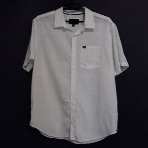 Hurley white button down shirt